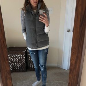 Old navy gray quilted puffer vest
